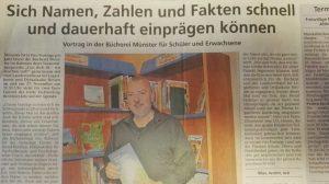 Effizient Lernen und die Merkfähigkeit verbessern – Bernd Holzfuss zeigt in der Bücherei Münster wie es geht.